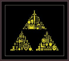 Triforce of Badassery - cross stitch pattern, not the completed work. On aida the design measures X inches/ X cm / X stitches. Sizes will change with count size. Design used 1 DMC thread colors. Types of stitches: Cross stitch only. This PDF pattern Learn Embroidery, Cross Stitch Embroidery, Embroidery Patterns, Floral Embroidery, Cross Stitch Designs, Cross Stitch Patterns, Cross Stitch Games, Types Of Stitches, Cross Stitch Heart
