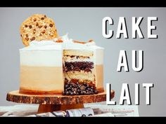 Cafe au Lait Father's Day Cake Loaded With Buttercream, Cookies, Dough – HOW TO CAKE IT
