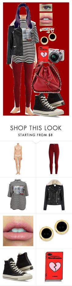 """""""Sin título #440"""" by coldprincess on Polyvore featuring moda, Cosabella, M.Y.O.B., Warehouse, Kevin Jewelers, Converse, Sony y Valentino"""
