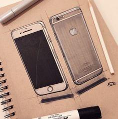 iPhone 6 sketch rendering