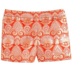 J.Crew Collection gilded brocade short ($90) ❤ liked on Polyvore