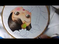 Pintura en tela niña girasol # 2 con cony - YouTube