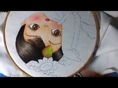 Pintura en tela niña girasol # 2 con cony