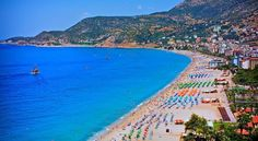 Kleopatra Beach, Alanya - This gorgeous beach's special feature is its crystal clear waters. You can swim along the coast of Fosforlu Cave under the peninsula and admire all the fish below.