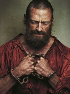 Hugh Jackman as Jean Valjean. He went on a rigorous exercise regimen to lose all fat and gain major muscle; that equivalent to 19 years in prison. Also, prior to filming he went 36 hours without any water to make his skin like paper and that of a terrifying prisoner. All the achieve the perfect Valjean.