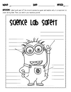 Middle school science: lab safety fun! Really any excuse