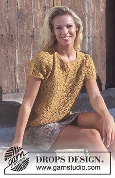 Free knitting patterns and crochet patterns by DROPS Design Knitting Kits, Sweater Knitting Patterns, Knit Patterns, Free Knitting, Clothing Patterns, Drops Design, Tweed, Top Pattern, Free Pattern