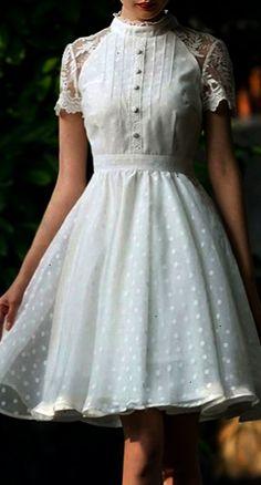 sheer dot retro dress                                                                                                                                                                                 More