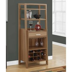 Monarch Specialties 60 In. Home Bar   Ideal For Those Who Could Use A Bit  Of Extra Space For Wine And Beverages, The Monarch Specialties Home Bar   /  Dark ...