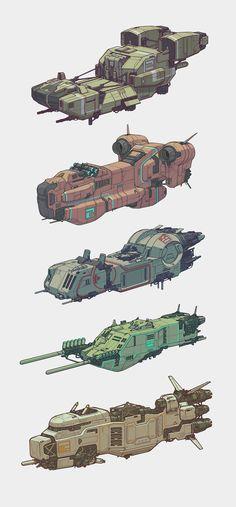 ArtStation - Spaceships, Mehrdad Malek Ahmadi