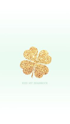 Kiss My Shamrock | iPhone Wallpaper