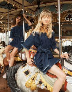bb6847e218c madewell x karen walker fathom denim dress worn with bandana + madewell x  karen walker helter