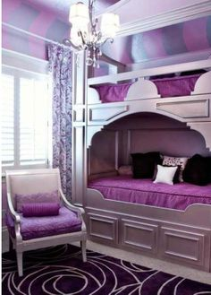 Purple room.