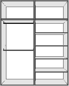 Closet melamina con puertas corredizas blancas 3200 - Distribuciones de armarios empotrados ...