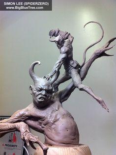 The Art of Simon Lee - Spiderzero - Concept Artist, Creature Designer, Sculptor, teacher Simon Lee, 3d Figures, Cool Monsters, Arte Horror, Creature Concept, Art Nouveau, Sculpture Clay, Creature Design, Pacific Rim