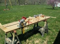 """Log Tenon Jig by Big Dave -- Homemade log tenon jig constructed from wood. Equipped with a tenon cutter capable of cutting 11"""" long tenons 2"""" in diameter. http://www.homemadetools.net/homemade-log-tenon-jig-2"""