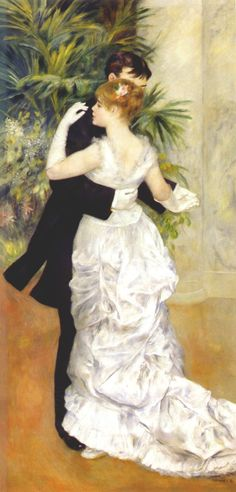 Dance in the City (Danse à la ville) by Pierre-Auguste Renoir, 1883. Musée d'Orsay @MuseeOrsay / Now on view at the @FrickCollection exhibit Renoir, Impressionism, and Full-Length Painting - February 7 through May 13, 2012