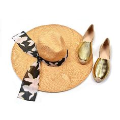 An over sized straw hat and a pair of metallic espadrilles epitomise French Riviera glamour and style! #PaulSmith #JimmyChoo #accessories #espadrilles #Riviera #SS15