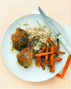 Curried Chicken Thighs With Carrots, Rice, and Lime | 27 5-Ingredient Dinners That Are Actually Healthy