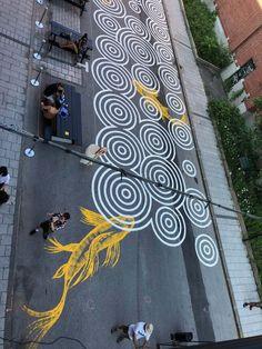 Murals Street Art, Street Art Graffiti, Landscape Plans, Urban Landscape, Banksy, Art Intervention, Art Public, Colossal Art, Art For Art Sake