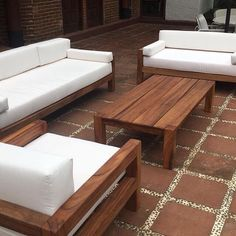 Wooden outdoor furniture b and q and outdoor wood furniture turning black. - Wooden outdoor furniture b and q and outdoor wood furniture turning black. Wooden Sofa Designs, Wooden Sofa Set, Wood Sofa, Vintage Outdoor Furniture, Pallet Garden Furniture, Modern Wooden Furniture, Ikea Outdoor, Outdoor Lounge, Ikea Patio