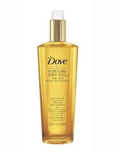 "Best for hot-tool addicts - Dove Pure Care Dry Oil Nourishing Treatment, $12.99 A slew of our testers were crazy for this super-light, heat-protecting oil. Worked through pre-styling, it made everything from fine, straight hair to thick curls silkier and softer. ""I used it every day before flat-ironing, and my hair was healthier in a week."" —Molly Klinefelter, copy editor"