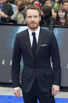 Michael Fassbender poses for a solo shot at the 'Prometheus' premiere in London.  Photo Credit: AP Photo/Jonathan Short