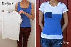 Colour Block Tee - to cover up the chocolate fondu stain on my favorite t-shirt...