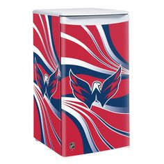 Creating the ultimate sports-themed man cave or game room comes down to the accessories it holds. The perfect sofa or recliner plus a fridge stocked with all your favorite snacks and beverages. The Washington Capitals mini fridge puts some style. Nhl Washington Capitals, Conference Logo, Metal Foam, Nhl Winter Classic, Green Name, Nhl Logos, Star Wars, Nhl Games