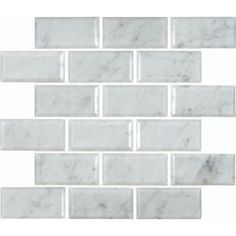 Love the classic lines of subway tile but want something a bit different? Go for a beveled edge! #tile