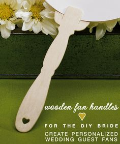 The Perfect Wedding Accessory for the DIY or Budget-Friendly Bride — Wooden Fan Handles