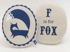 F is for Fox cushion, Scout and Co - Unlock the Magic of the Forest in Your Living Room, Eat Sleep Live