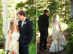 Red Pine Lodge Wedding at the Canyons Resort in Park City, Utah | Bride and Groom Photo Idea | Logan Walker Photography