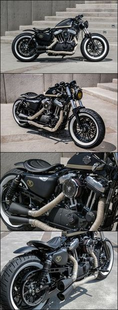 aftercycles | harley-davidson sportster forty-eight | custom bobber …