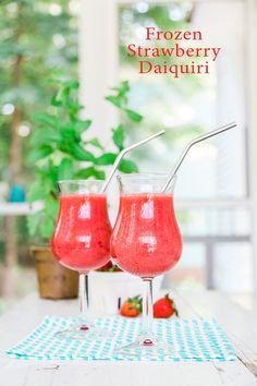 Frozen Strawberry Daiquiri | Recipe | Frozen Strawberry Daiquiri ...