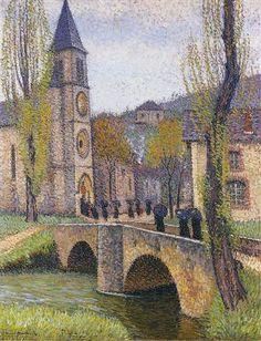 The Hour of Mass in Labastide du Vert - Henri Martin