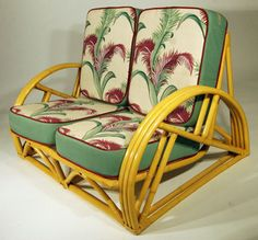 barkcloth might also be fun for rocker cushions