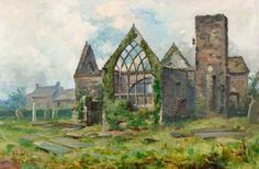 Local Painting - 'Old St Peters Kirk And Grave Yard' G. Wright ...