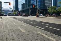 Unilock - Bremner Blvd with Promenade Plank Paver with Series 3000 paver in Ontario