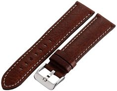 Hadley-Roma Men's MSM906RB-220 22-mm Brown Genuine Leather Watch Strap Check https://www.carrywatches.com