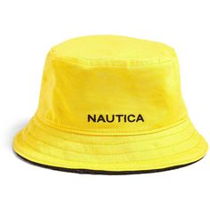 Forever21 Nautica Reversible Bucket Hat ($40) ❤ liked on Polyvore featuring men's fashion, men's accessories, men's hats, men's brimmed hats, mens flat hats and mens flat brim hats