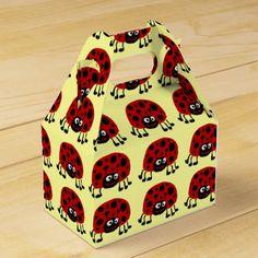 Ladybug Primitive Art Giftbox #ladybugs #art #gift #boxes And www.zazzle.com/tickleyourfunnybone*