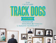 """Check out new work on my @Behance portfolio: """"Track Dogs Poster Intruso"""" http://be.net/gallery/43539157/Track-Dogs-Poster-Intruso"""