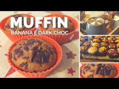 MUFFIN PROTEICI ALLA BANANA E DARK CHOC - YouTube