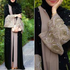 Image about ootd in hijab_abaya by khadija_ji_ji Arab Fashion, Islamic Fashion, Muslim Fashion, Modest Fashion, Fashion 2016, Muslim Dress, Hijab Dress, Modest Wear, Modest Dresses