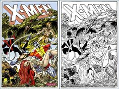 Reimagined X-Men #115 cover commission by John Byrne. 2006 colored by namorsubmariner (DeviantArt)