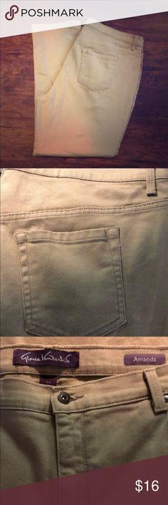 💕EUC, Gloria Vanderbilt, 18W, Tan Jeans 💕EUC, Maggie Barnes, 18W, Dressy Crop/Ankle Pants Gloria Vanderbilt Jeans