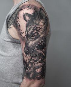 "37 Likes, 2 Comments - Konstantin Strokin (@strokin_konstantin) on Instagram: ""#freehand #tattoo #black #blackwork #blackart #тату @nocturnaltattooink"""