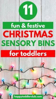 Christmas sensory bins are the perfect way to get your toddler in the Christmas spirit! These fun and easy Christmas sensory bins for toddlers and preschoolers and great for sensory play, fine motor skills, and just plain fun! Christmas Activities For Toddlers, Winter Crafts For Toddlers, Rainy Day Activities, Indoor Activities For Kids, Toddler Activities, Motor Activities, Toddler Games, Summer Activities, Family Activities