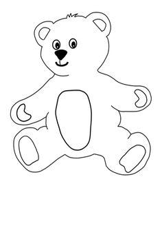 Teddy Bear Template | Free Teddy Bear Craft For Kids With Template For Bear And Pyjamas